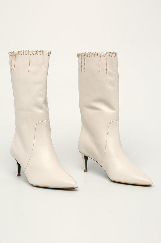 Patrizia Pepe - Kožené kotníkové boty tělová