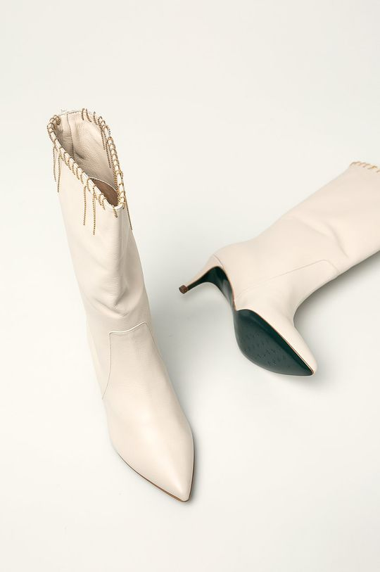 tělová Patrizia Pepe - Kožené kotníkové boty