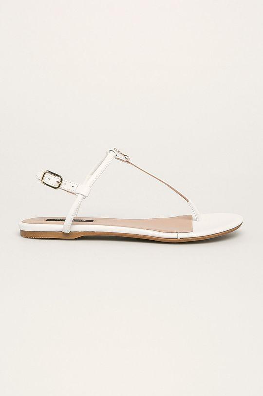 biela Patrizia Pepe - Kožené sandále Dámsky