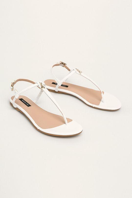 Patrizia Pepe - Sandały skórzane biały