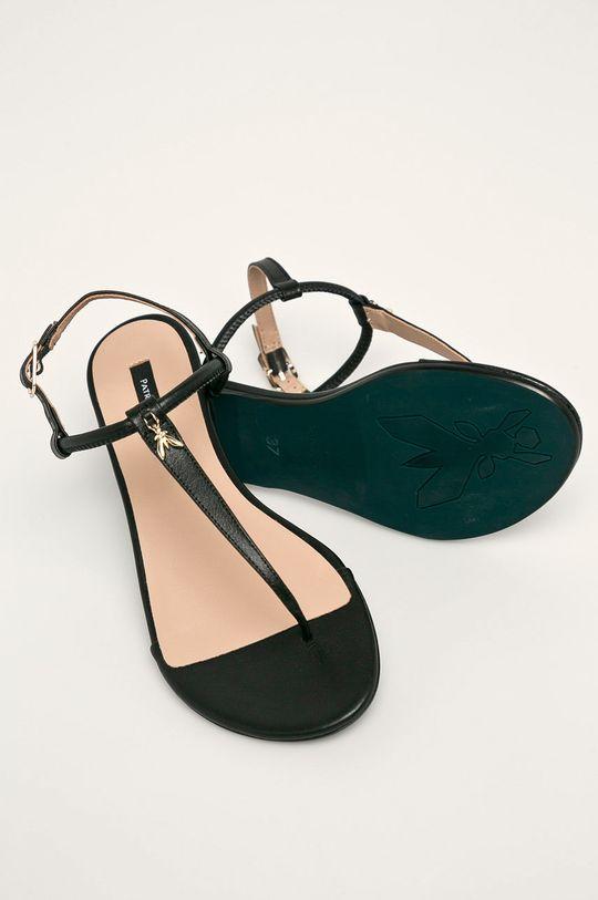 čierna Patrizia Pepe - Kožené sandále
