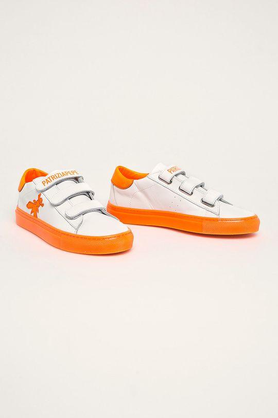 Patrizia Pepe - Kožené boty bílá