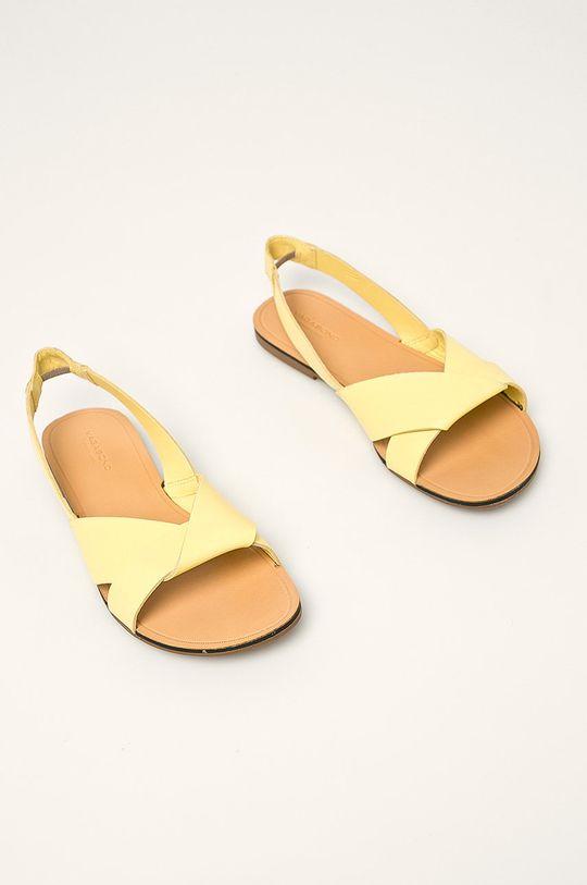 Vagabond - Kožené sandály Tia žlutá