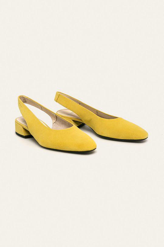Vagabond - Шкіряні туфлі Joyce жовтий