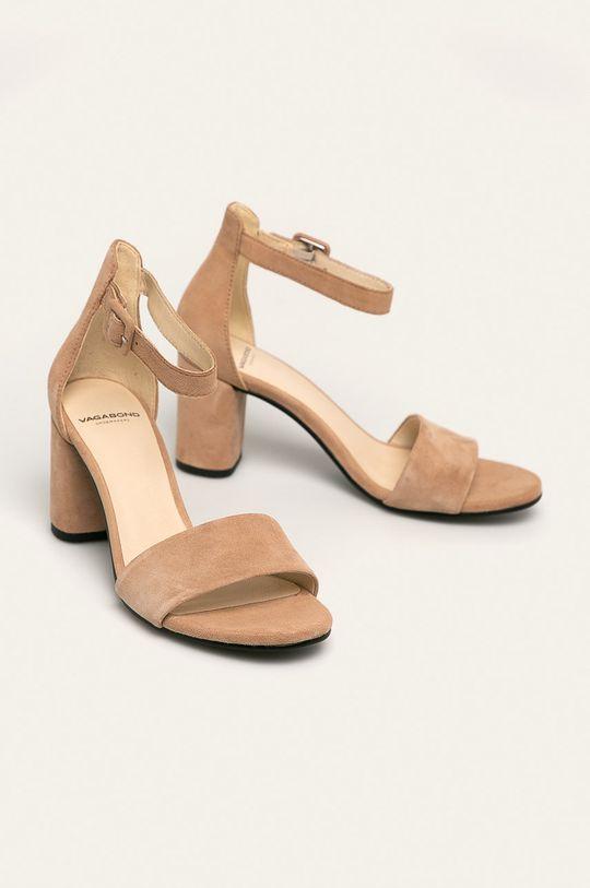 Vagabond - Sandały skórzane Penny beżowy