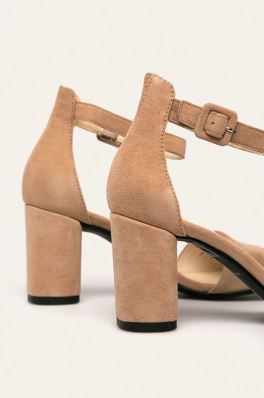 Vagabond - Sandały skórzane Penny Cholewka: Skóra zamszowa, Wnętrze: Skóra naturalna, Podeszwa: Materiał syntetyczny