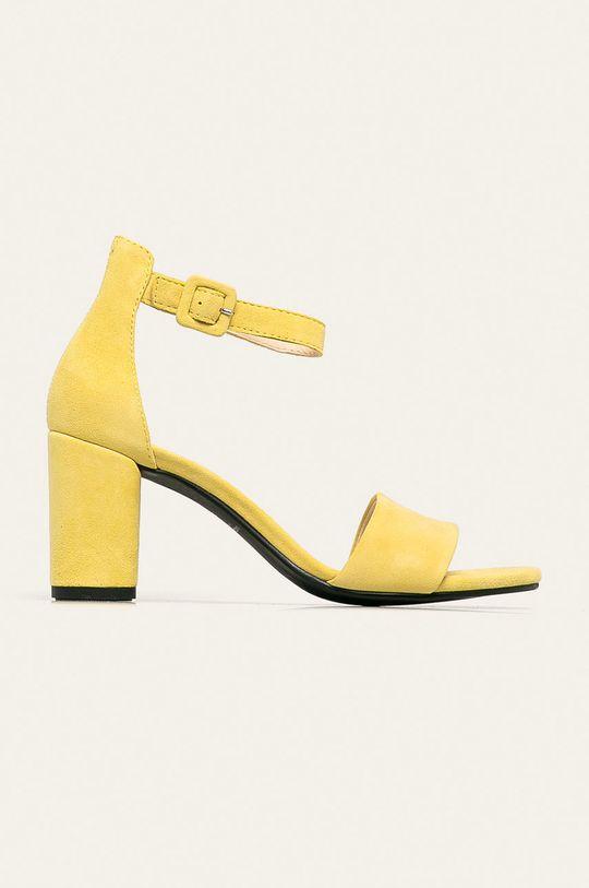 galben Vagabond - Sandale de piele Penny De femei
