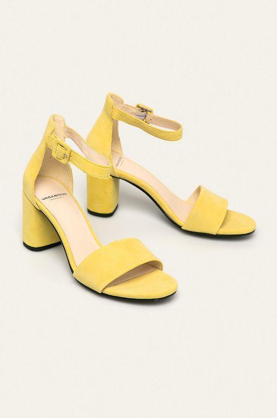 Vagabond - Sandale de piele Penny galben