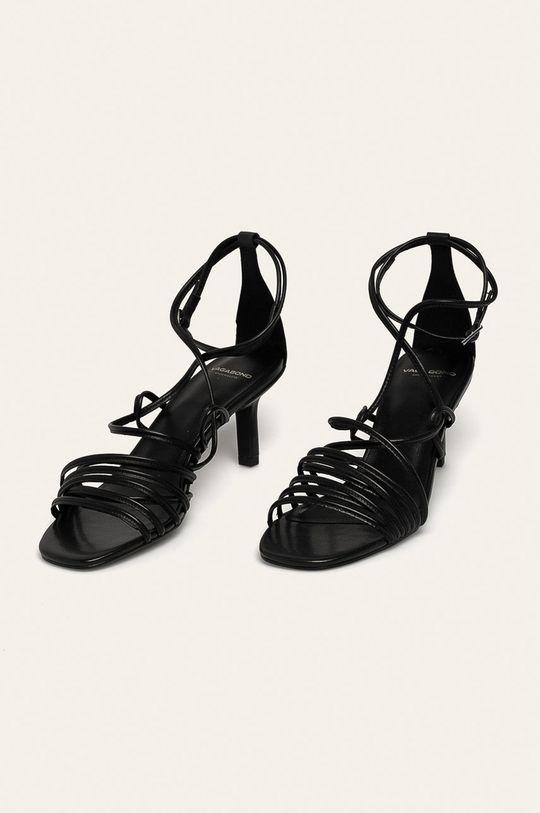 Vagabond - Kožené sandály Amanda černá