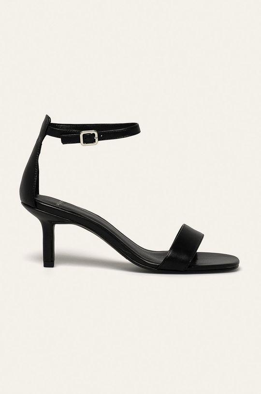 čierna Vagabond - Kožené sandále Amanda Dámsky
