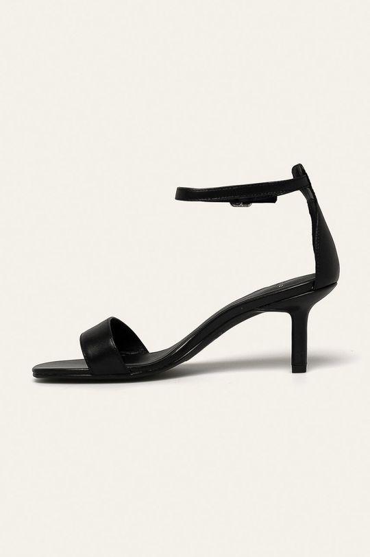 čierna Vagabond - Kožené sandále Amanda