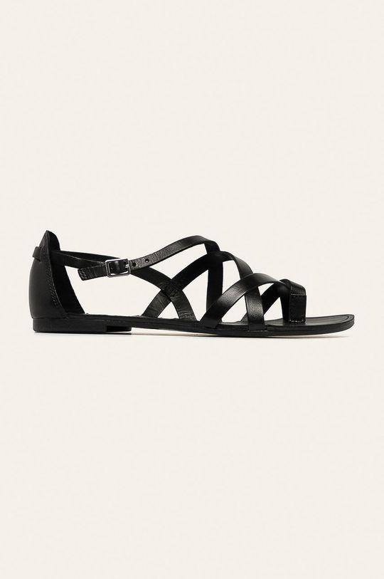 čierna Vagabond - Kožené sandále Tia Dámsky