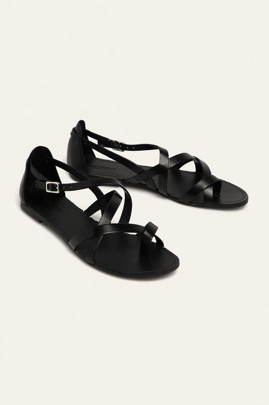 Vagabond - Kožené sandále Tia čierna