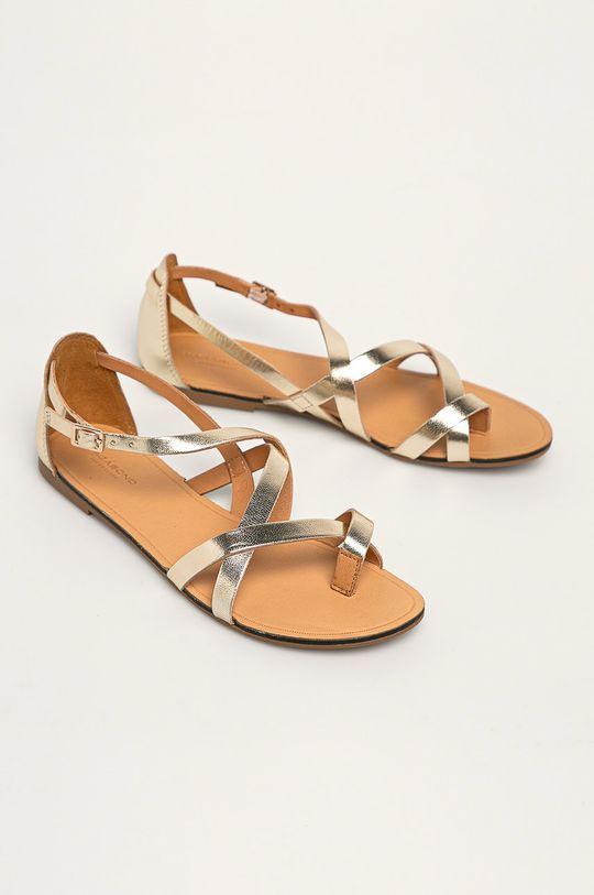 Vagabond - Sandały skórzane Tia złoty