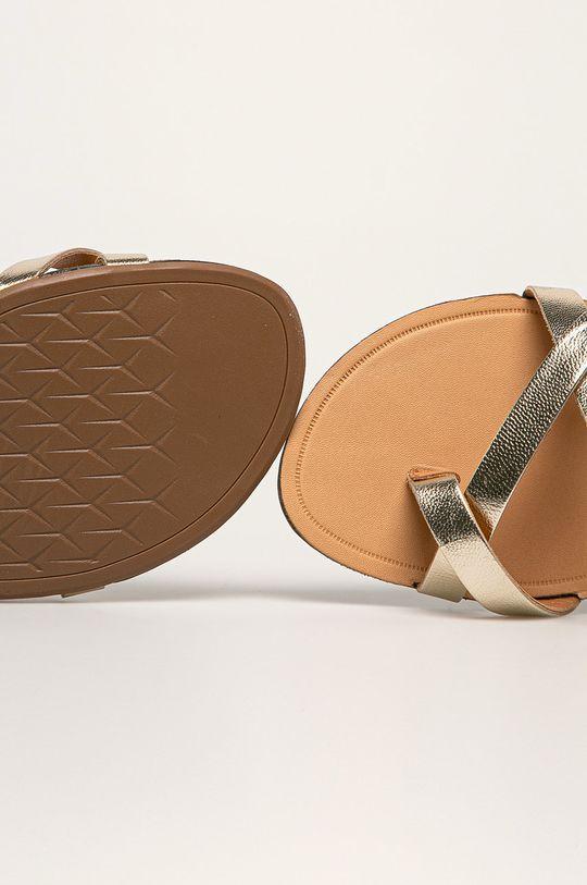 złoty Vagabond - Sandały skórzane Tia