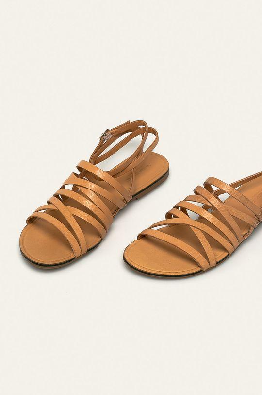 Vagabond - Sandale de piele Tia culoarea tenului