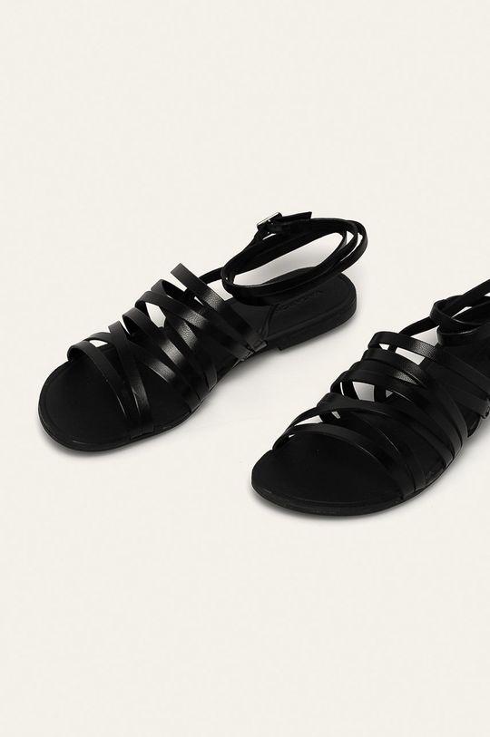 Vagabond - Kožené sandály Tia černá