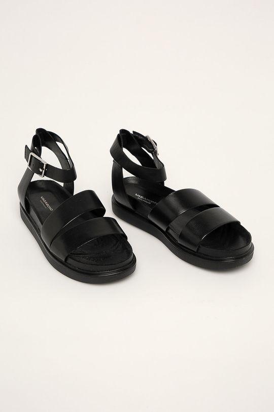 Vagabond - Kožené sandály Erin černá