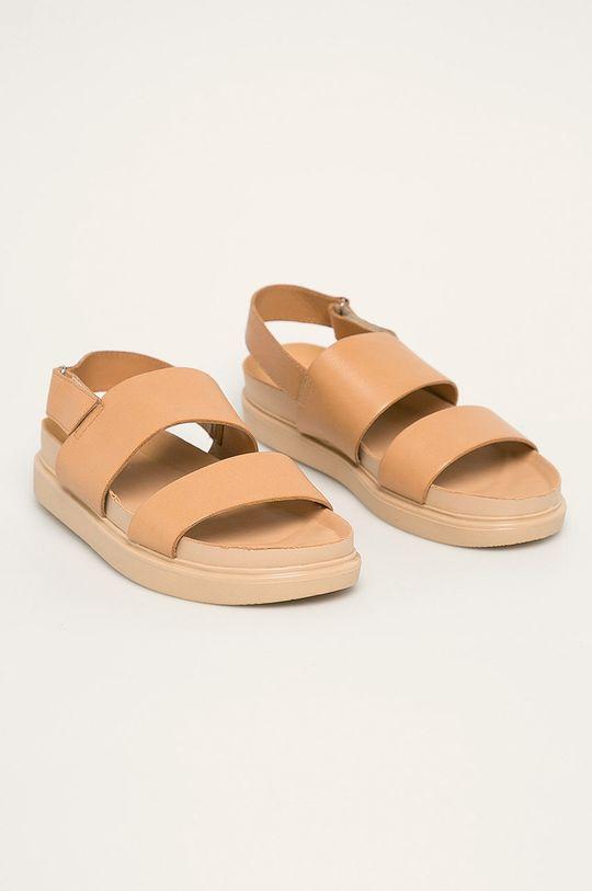 Vagabond - Sandale de piele Erin culoarea tenului