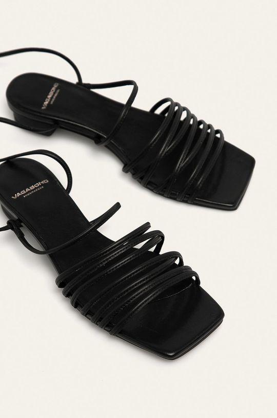 Vagabond - Sandały skórzane Anni czarny
