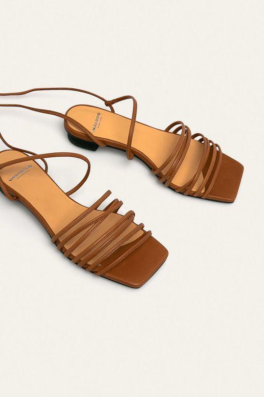 Vagabond - Kožené sandály Anni hnědá