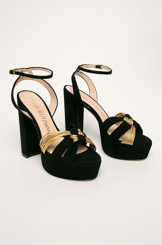 Stuart Weitzman - Sandale de piele negru