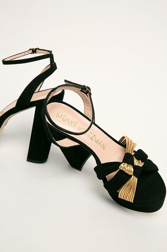negru Stuart Weitzman - Sandale de piele