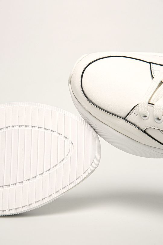 biały Calvin Klein - Buty skórzane