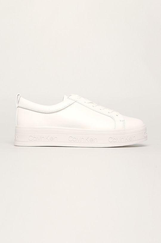 bílá Calvin Klein - Kožené boty Dámský