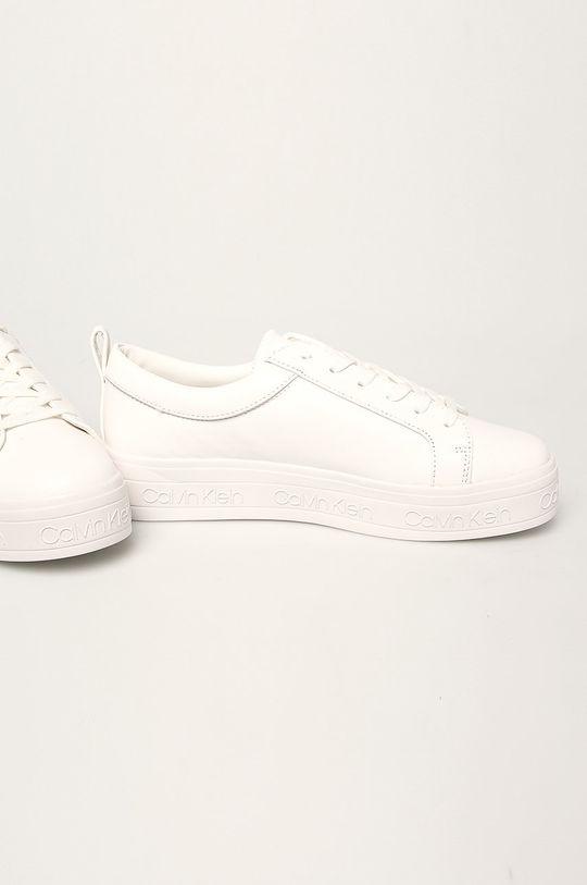 Calvin Klein - Kožené boty bílá