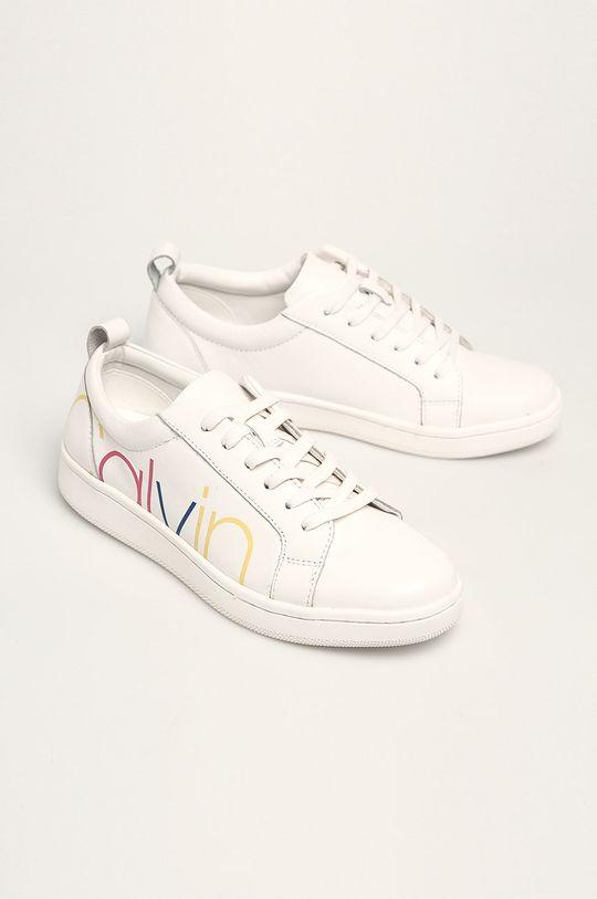 Calvin Klein - Шкіряні черевики білий