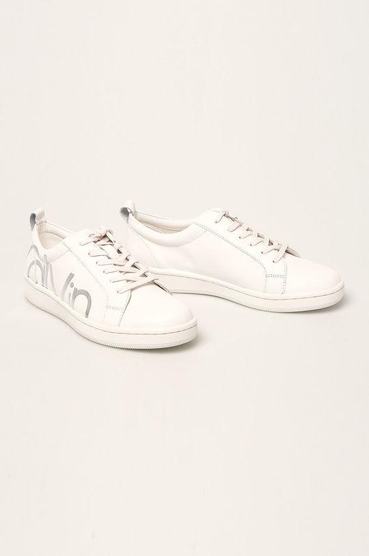 Calvin Klein - Ghete de piele alb