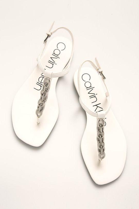 Calvin Klein - Sandály Svršek: Umělá hmota Vnitřek: Umělá hmota, Přírodní kůže Podrážka: Umělá hmota