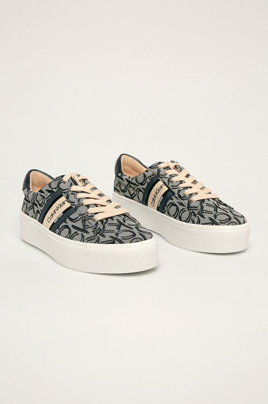 Calvin Klein - Topánky tmavomodrá