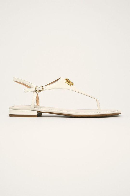 biela Lauren Ralph Lauren - Kožené sandále Dámsky