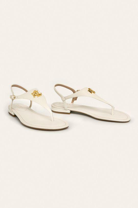 Lauren Ralph Lauren - Kožené sandále biela