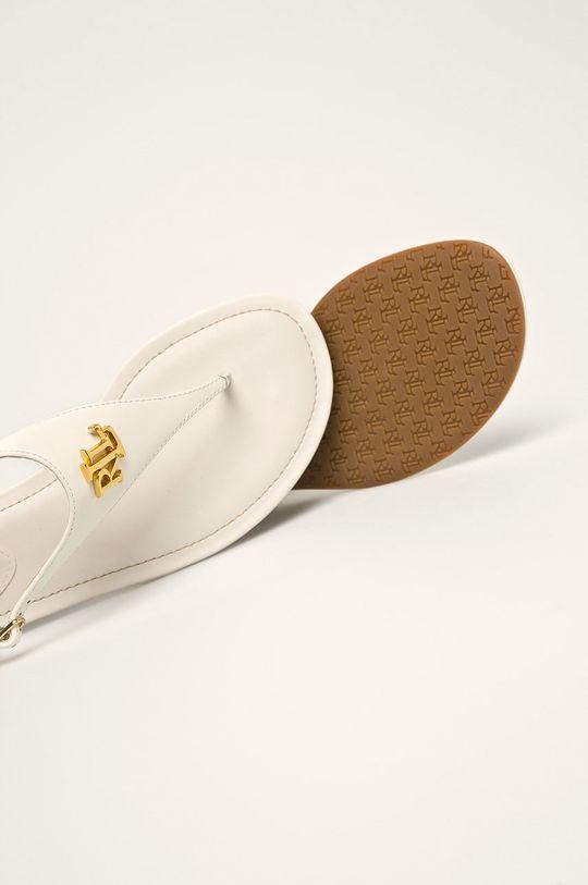 biela Lauren Ralph Lauren - Kožené sandále