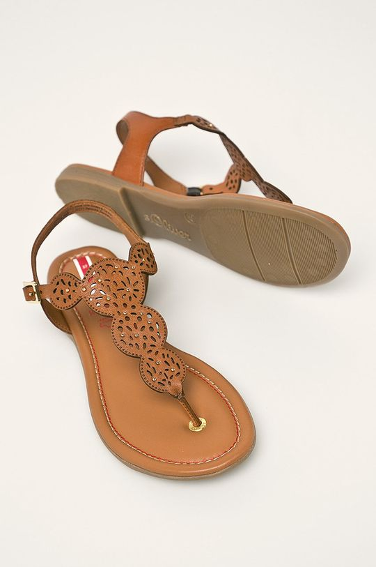 hnedá s. Oliver - Kožené sandále