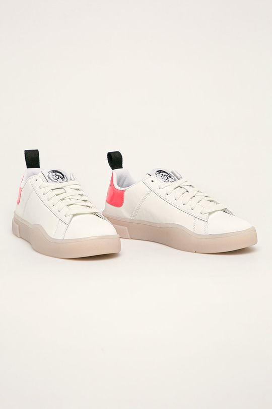 Diesel - Kožené boty bílá