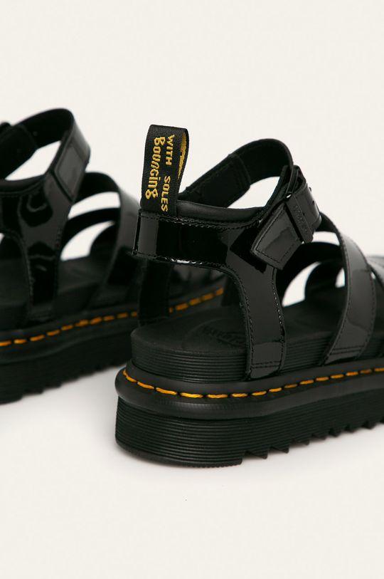 černá Dr. Martens - Kožené sandály Blaire
