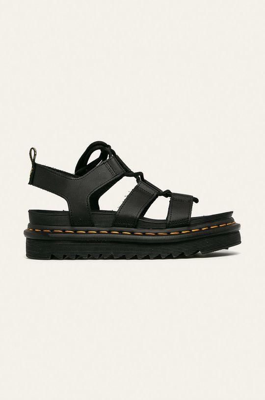 čierna Dr. Martens - Kožené sandále Nartilla Dámsky