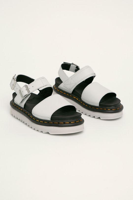 Dr. Martens - Kožené sandále Voss svetlosivá