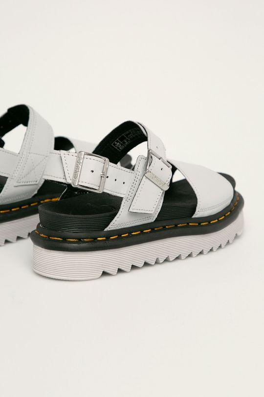svetlosivá Dr. Martens - Kožené sandále Voss