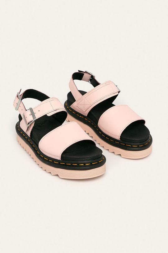 Dr. Martens - Kožené sandály Voss pastelově růžová