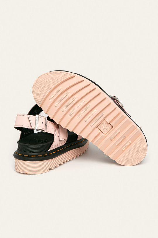 pastelově růžová Dr. Martens - Kožené sandály Voss