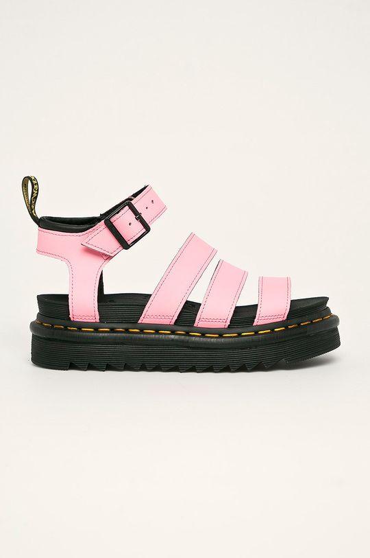 růžová Dr. Martens - Kožené sandály Blaire Dámský