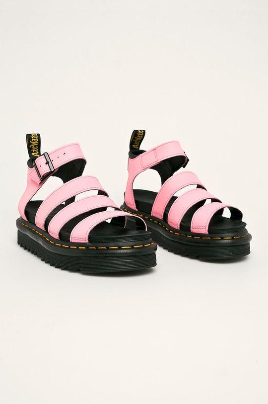 Dr. Martens - Kožené sandály Blaire růžová