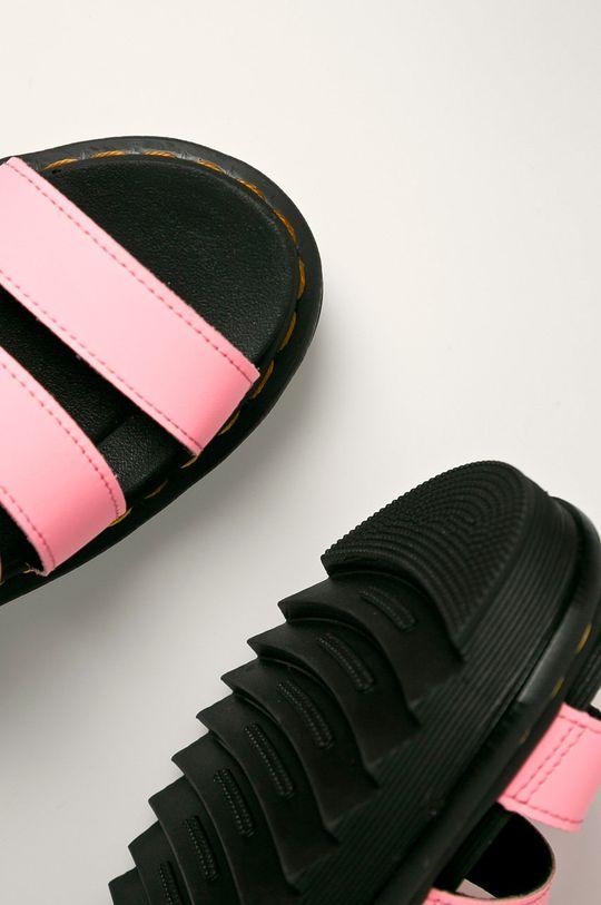 růžová Dr. Martens - Kožené sandály Blaire