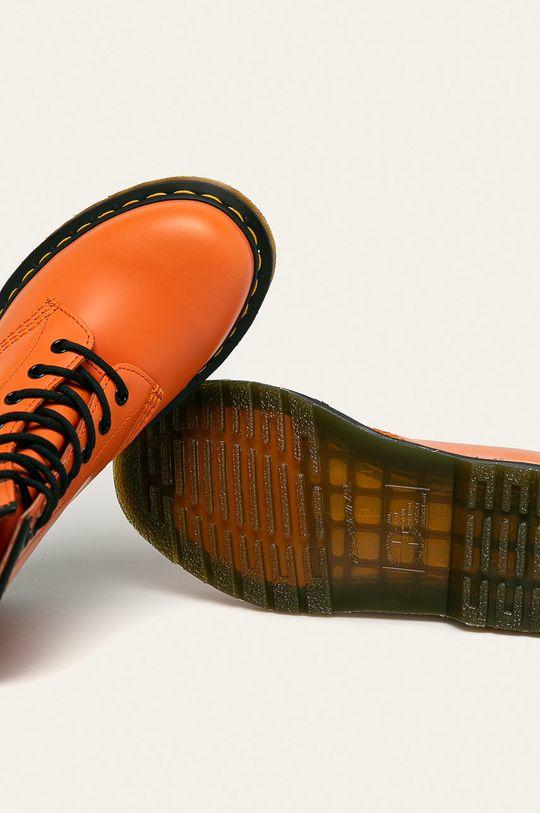 Dr. Martens - Bocanci de piele 1460 Orange Gamba: Piele naturală Interiorul: Material textil, Piele naturală Talpa: Material sintetic