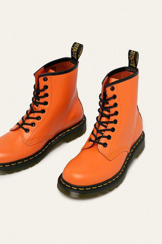 portocaliu Dr. Martens - Bocanci de piele 1460 Orange